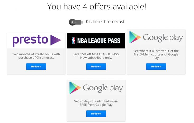 Google is now offering 15% off an NBA League Pass for Australian, German, Canadian and Japanese Chromecast owners.  If you received a Google Chromecast for Christmas and you're an NBA fan, you're in for a deal with Google offering a 15% discount for an NBA League Pass. [READ MORE HERE]