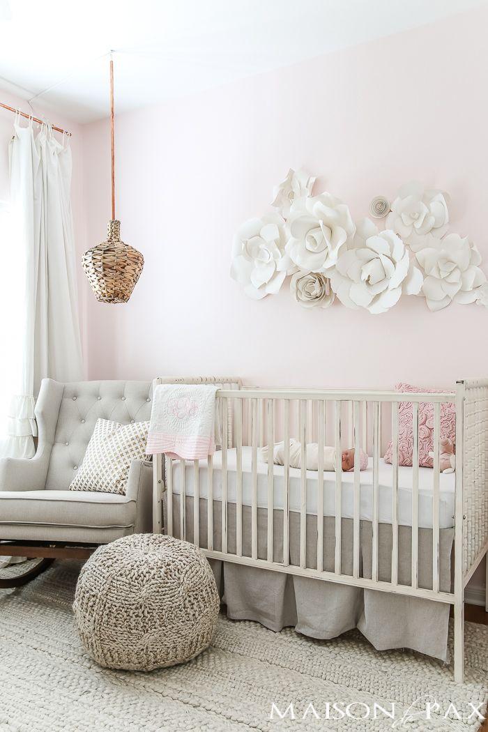Erröten Sie Kinderzimmer mit neutralen Texturen  – Baby Girl Nurseries