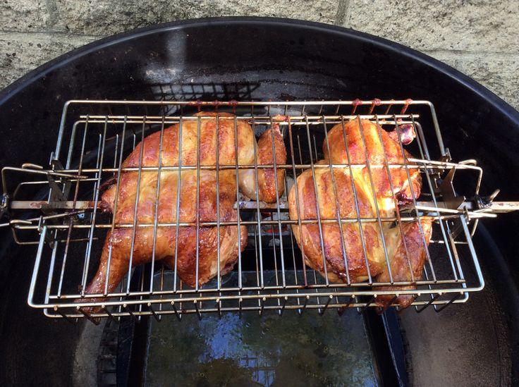 Cornell Bbq Chicken In A Rotisserie Basket Bbq Bbq