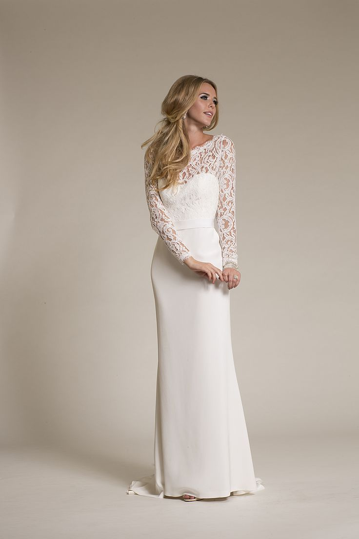 Just tried her on today... I loved her! Lace and Novelty , Silk Crepe,Bateau,Sheath, Trumpet - Jules | Amy Kuschel