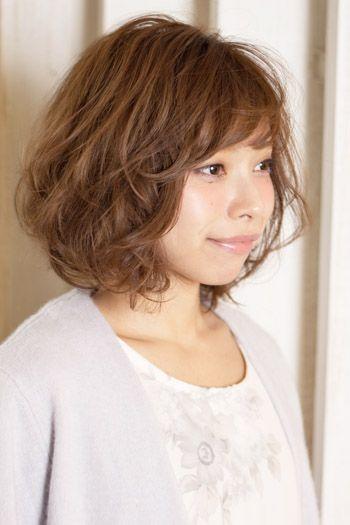 2016年 人気髪型 ミディアム パーマ ウエーブ サイド