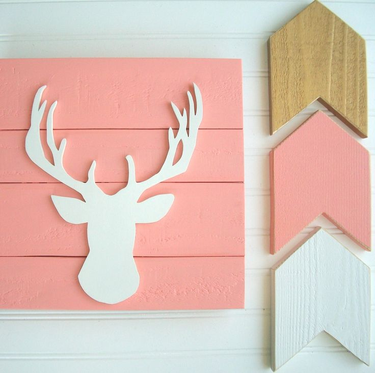 Baby Girl Woodland Nursery . Woodlands Fawn . Deer Head . Antler Nursery . Deer Head . Coral Nursery . Boho Nursery . Baby Girl . Fawn by RessieLillian on Etsy https://www.etsy.com/listing/469688010/baby-girl-woodland-nursery-woodlands