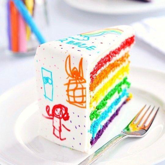 We love this idea of getting your child to draw on their birthday cake with edible decorating gels as the decoration!   #Regram via @sweetapolita  #cake   #dessert #cakes #instacake #baking #birthdaycake #cakedesign #cakestagram #birthdayparty #kidsbirthday #cakedecorating #cakeart #cakedecorator #mums #aussiemums