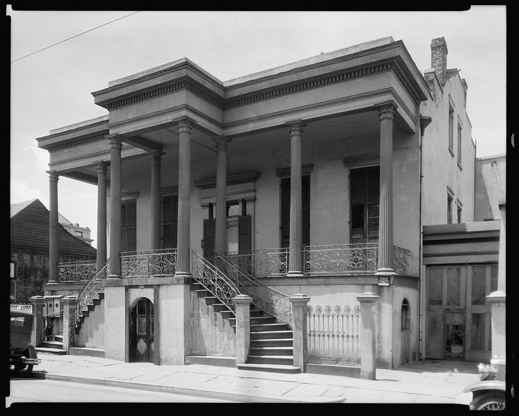 Xiques Mansion, 521 Dauphine St., New Orleans, Orleans Parish, Louisiana. Building/structure dates: 1851. Related name: Mrs. Emile Dufant.