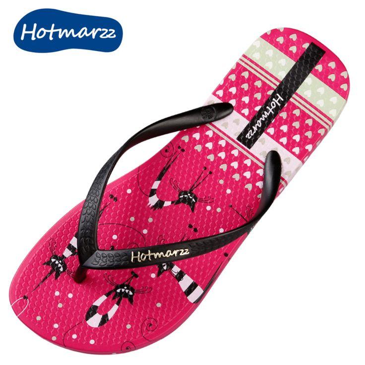Couple Flip Flops Dark Kitty Print Chic Sandals Slipper Rubber Non-Slip Beach Thong Slippers