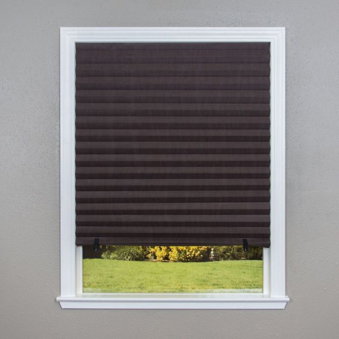 Bed Bath Beyond Blinds.Redi Shade Paper Pleated Light Flitering Shade In Cafe Set