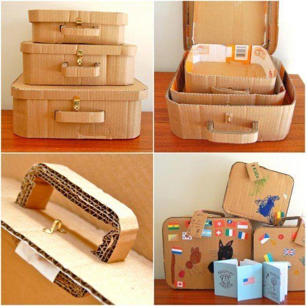 #идеи@moe_gnezdishko<br><br>Пускаем картонные коробки в дело