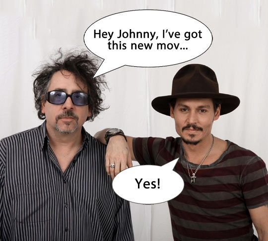 Johnny Depp and Tim Burton's relationship.