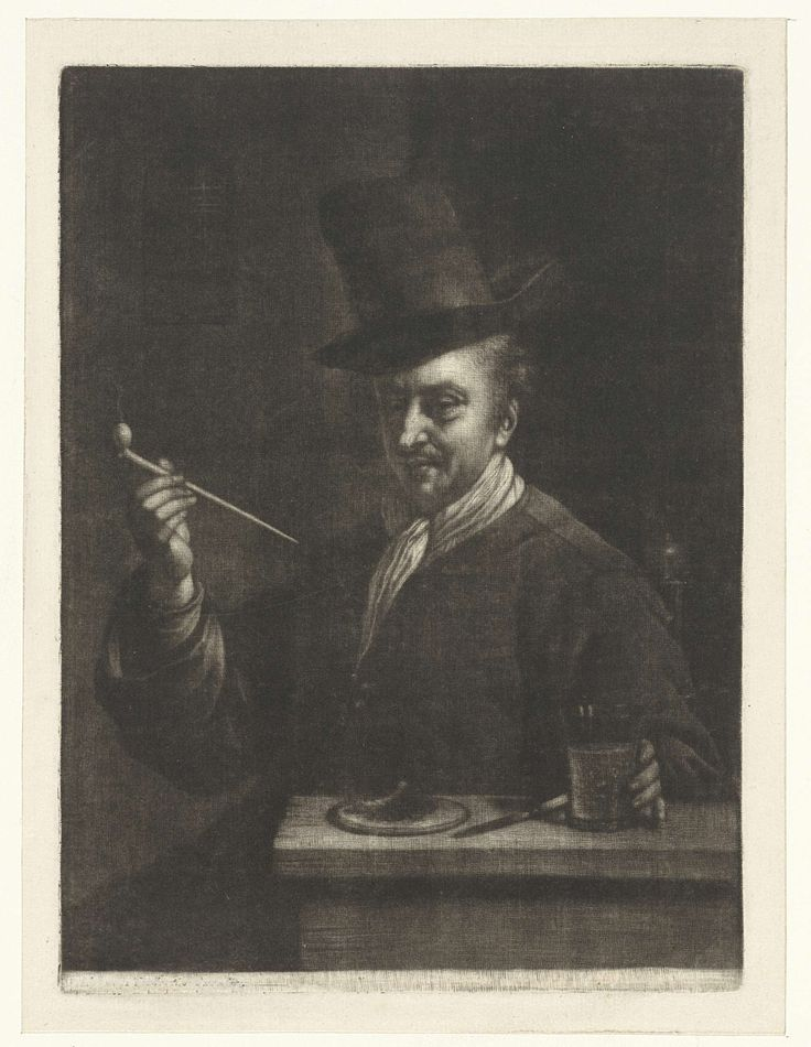 Pijprokende man, Wallerant Vaillant, 1658 - 1677