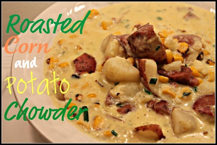 Dwell on Joy: Roasted Corn & Potato Chowder: Dinner, Cooking Lights Recipe, Yummy Food, Corn Chowders, Roasted Corn, Potato Soup, Potatoes Soup, New Moms, Potatoes Chowders