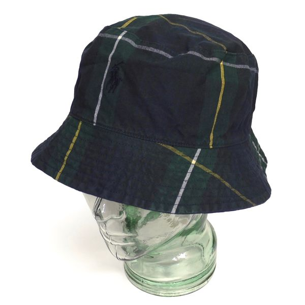Polo Ralph Lauren ポロラルフローレン タータンチェック コットンハット バケットハット アウトドアハット 帽子【$69.50】 [037]