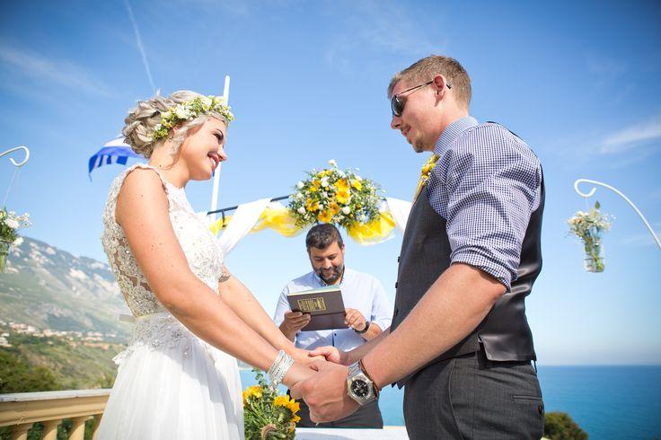 Wedding in Kefalonia island. Wedding location. Destination wedding. Dea view wedding. Cleopatra's Weddings - wedding planner of  Kefalonia