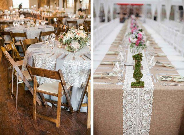 Декор столов на свадьбу, три важнейших элемента, столовое белье