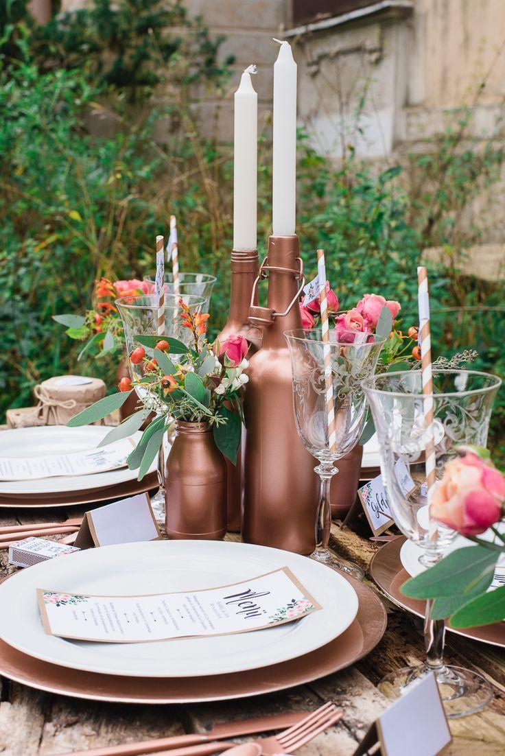 Erdige Holztöne, zartes Rosa und glänzendes Kupfer - die heutigen Inspirationen vereinen eine wunderschöne rustikale Boho Lässigkeit mit ...