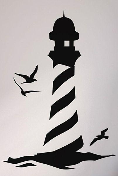 Want   Lighthouse on the Seaside Seaside ART wall quote STICKER TRANSFER vinyl DEC…