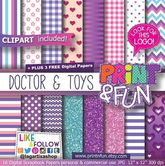 Digital Paper Hearts Background Clip art included by Printnfun