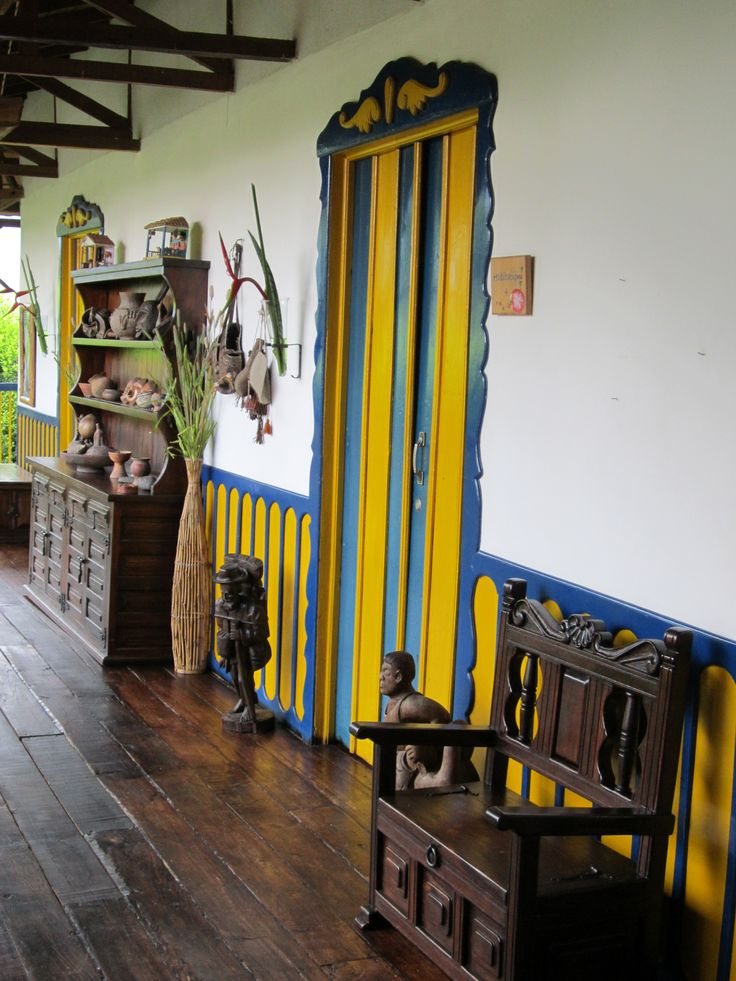 """Interior of the """"Hacienda Combia"""" (111 years old) (Calarca Quindio-Colombia)"""