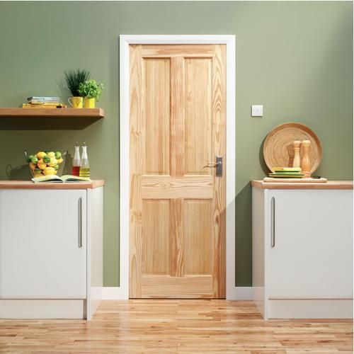 Skipton Clear Pine Door 1981x686mm - Internal Softwood Doors - Interior Timber Doors -Doors & Windows - Wickes