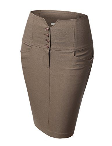 J.TOMSON Womens Front Zip Stretchy Pencil Skirt MOCHA LARGE J.TOMSON http://smile.amazon.com/dp/B00M9VCTHK/ref=cm_sw_r_pi_dp_cC6Zub1R6YWZB