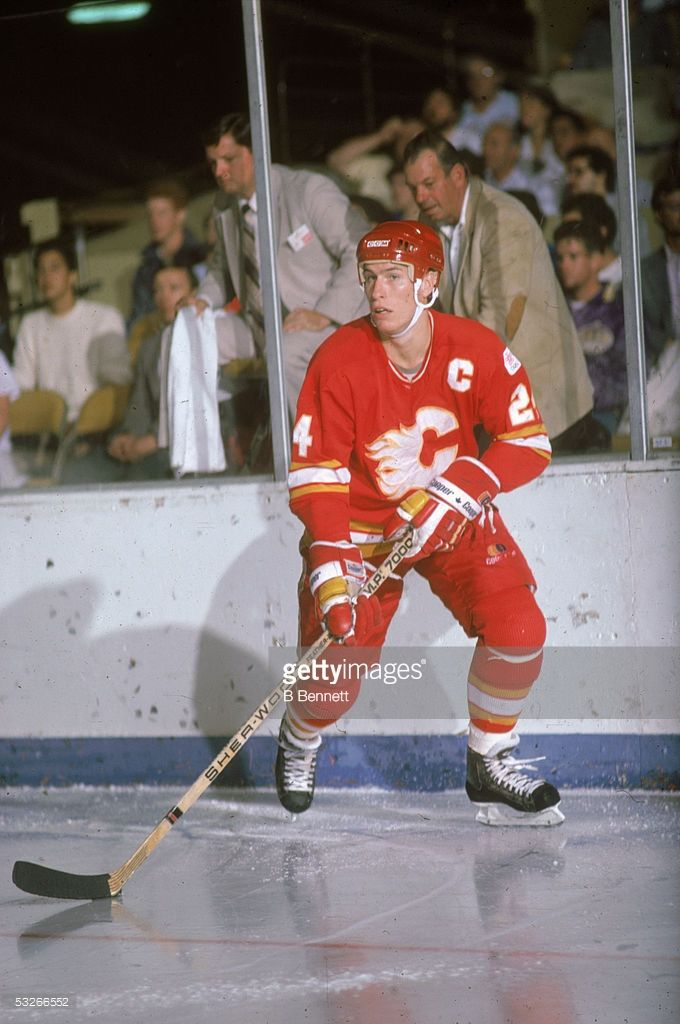 Jim Peplinski #24 of the Calgary Flames skates on the ice during an NHL game against the Montreal Canadiens circa 1980's at the Montreal Forum in Montreal, Quebec, Canada.