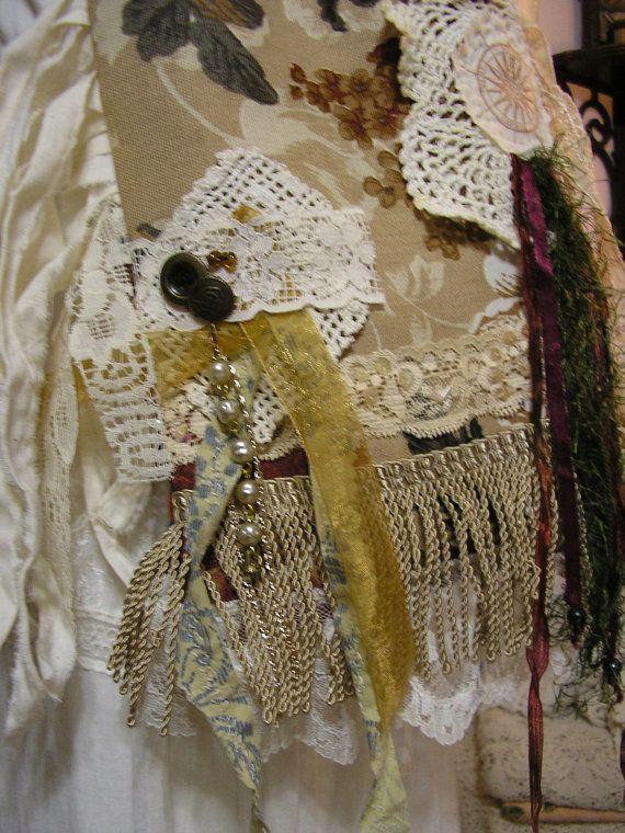 Fringe Цыганский сумка ткани ручной работы сумки салфетка кружева на GrandmaDede