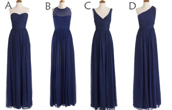 Custom Made Navy Blue Bridesmaid Dress,Drak Blue Cheap Long Bridesmaid Dress,Off The Shoulder V Neck Bridesmaid Dress,Simple Prom Dress