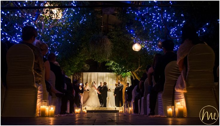 Evening ceremony in a greenhouse