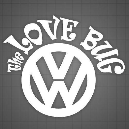 Vw Beetle Volkswagen Bug Hibiscus Decal Sticker Hawaii