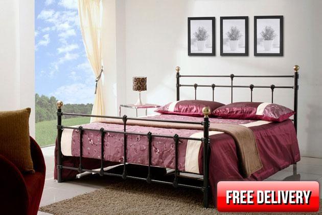 4ft Atlantic Black Bed Frame - £319.95 - 4ft Black Metal bed Frame A lovely…