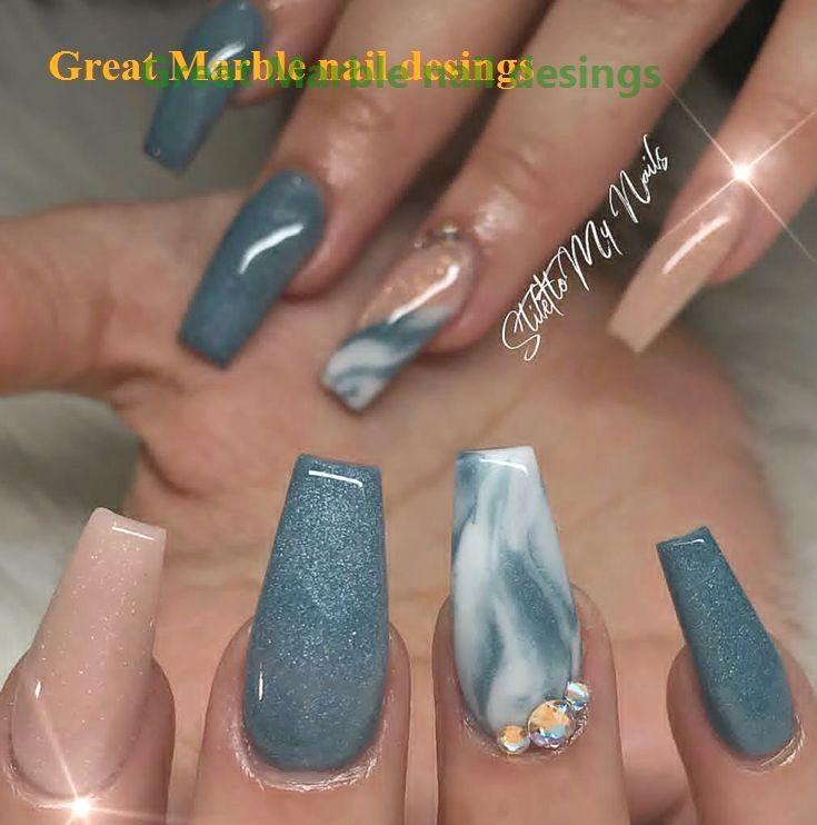 25 Marble Nail Design With Water Nail Polish 1 In 2020 Fall Acrylic Nails Marble Nail Designs Ballerina Nails