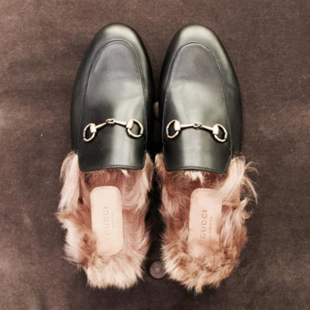 Shoes: tumblr slide gucci gucci gucci princetown black ...