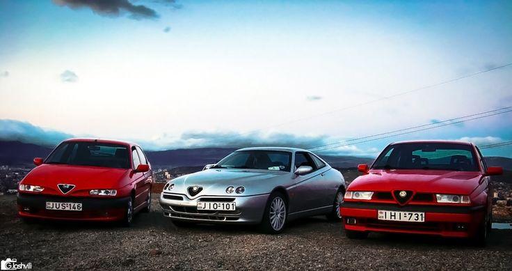 https://flic.kr/p/cBpY7W   Alfa Romeo 146, GTV V6TB & 155 Q4