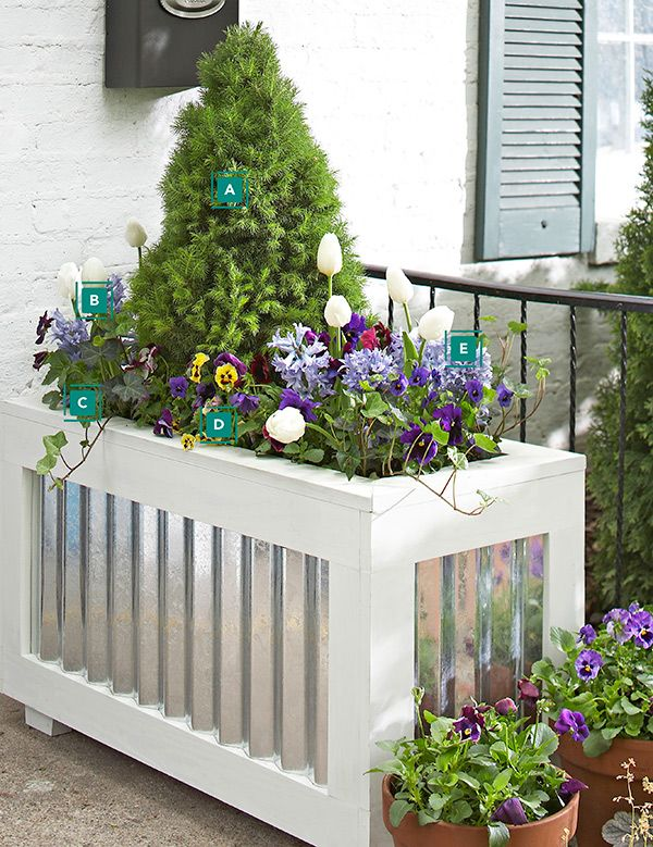 spring container love the galvanized steel container lowes tells you how to make it diy planter boxpatio - Patio Flower Boxes Ideas