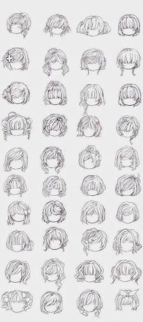 [Artes] 40 Estilos de Peinados Manga para Chicas. - Neoverso : animé y comics