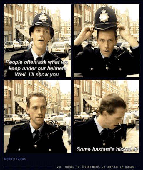 Hugh Laurie. No words. (gif) | 29 Times Tumblr Completely Got What It Means To Be British