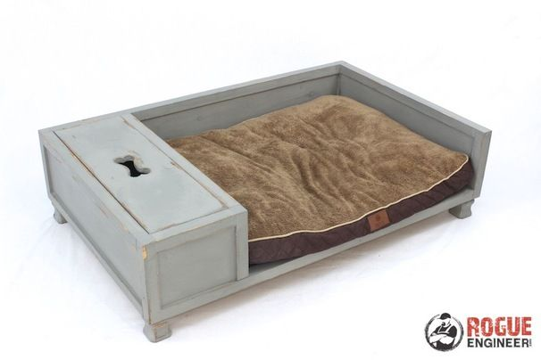Large Dog Bed with Storage