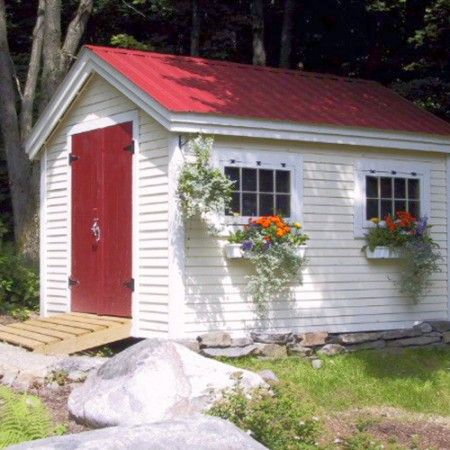 Gable Sheds | Shed with Windows | Sheds Kits | Jamaica Cottage Shop