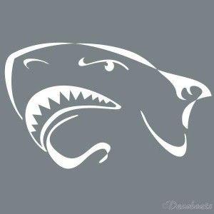Pochoir tête de requin