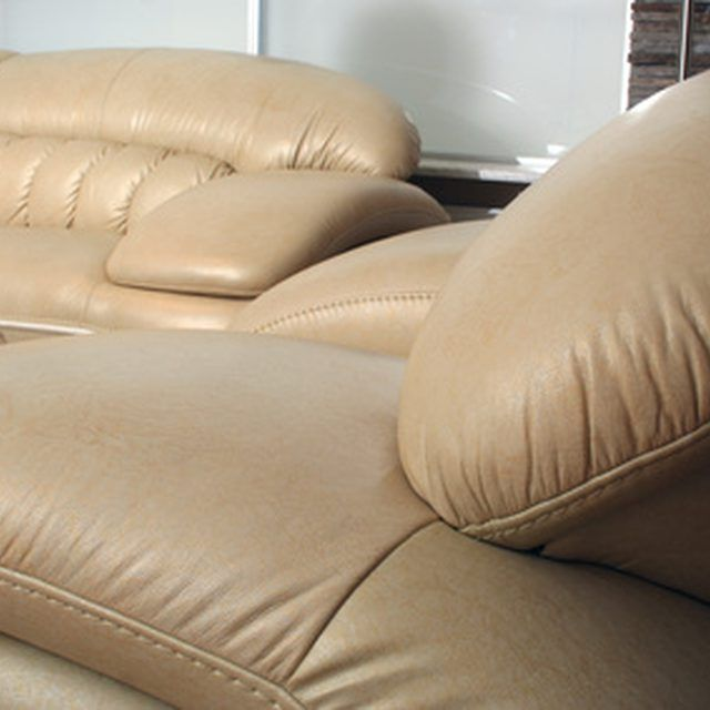 Clean pet urine from your leather furniture as soon as possible.
