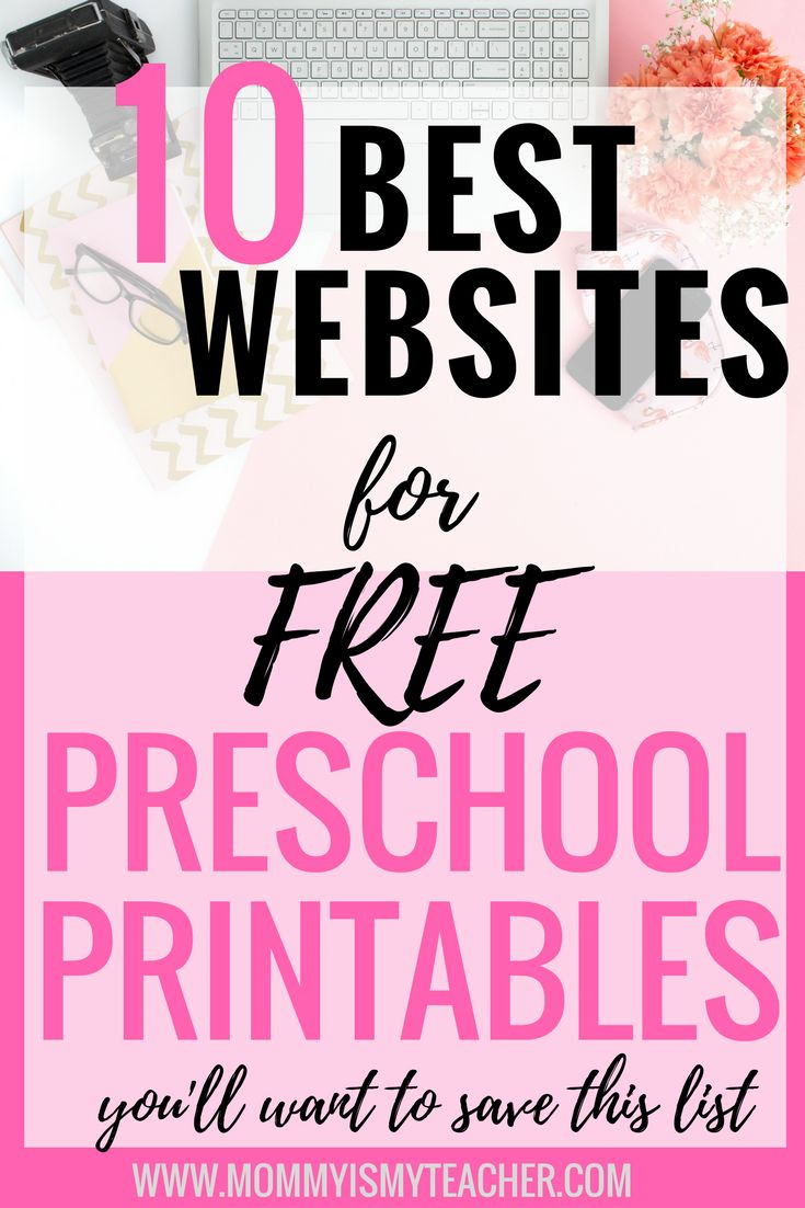 This list of free preschool printables makes it easy to create a curriculum for my homeschool preschool. Definitely pinning this for later.