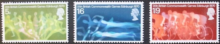 9th British commonwealth games stamps, GB, Elizabeth II, SG ref: 832-834, MNH