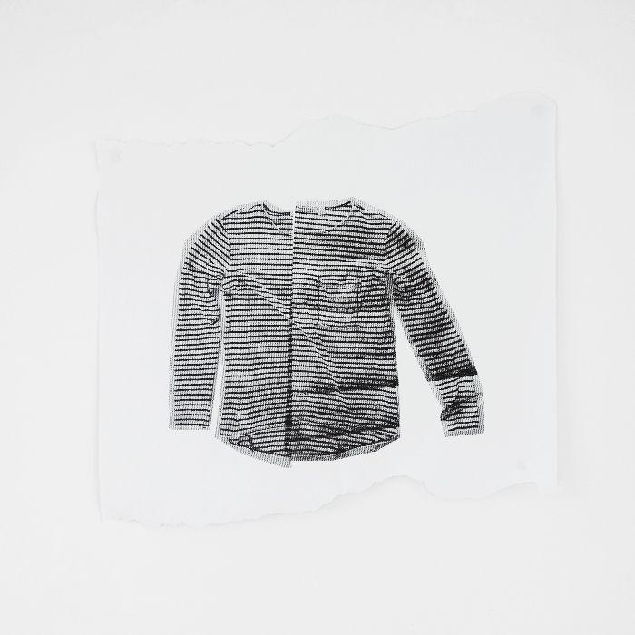black and white breton stripe print on paper / erin flannery
