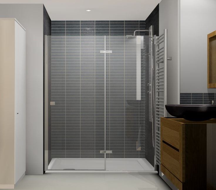 Salle de bain ,  espace douche, image virtuelle 3d