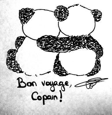 chroniques de la vingtaine panda voyage dessin hug c lin goodbye aurevoir amis. Black Bedroom Furniture Sets. Home Design Ideas
