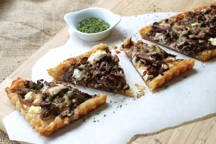 Chanterelle and goat cheese tart. I am going to make this for reals.