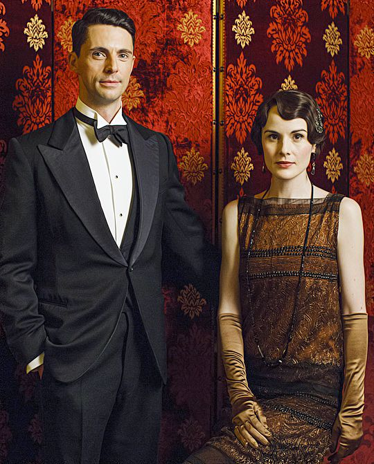 Michelle Dockery and Matthew Goode, Downton Abbey season 6