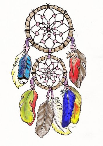 Design idea...add a small catcher at bottom, make feathers birthstone colors