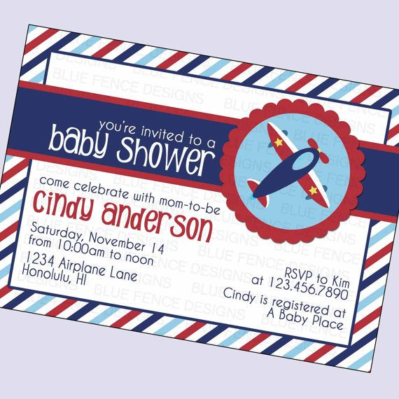 17 best ideas about aviator baby shower on pinterest | baby, Baby shower invitations