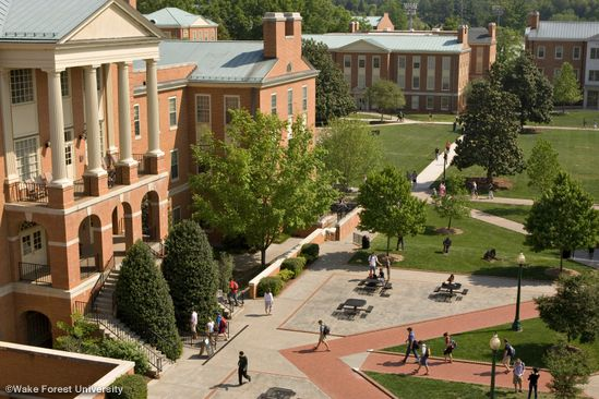 Wake Forest University in Winston-Salem, NC