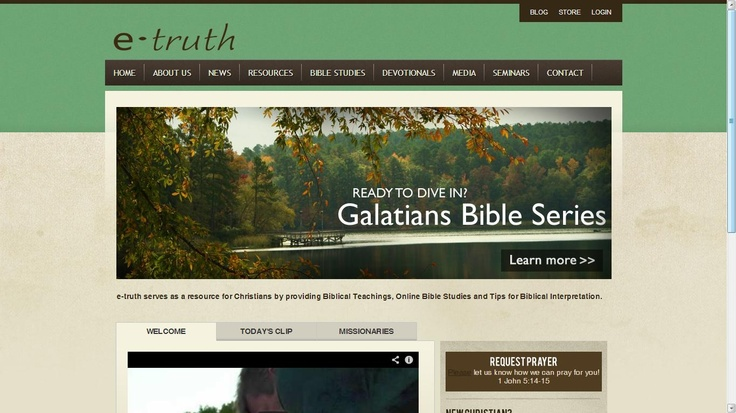 Website Designed for e-truth Ministries